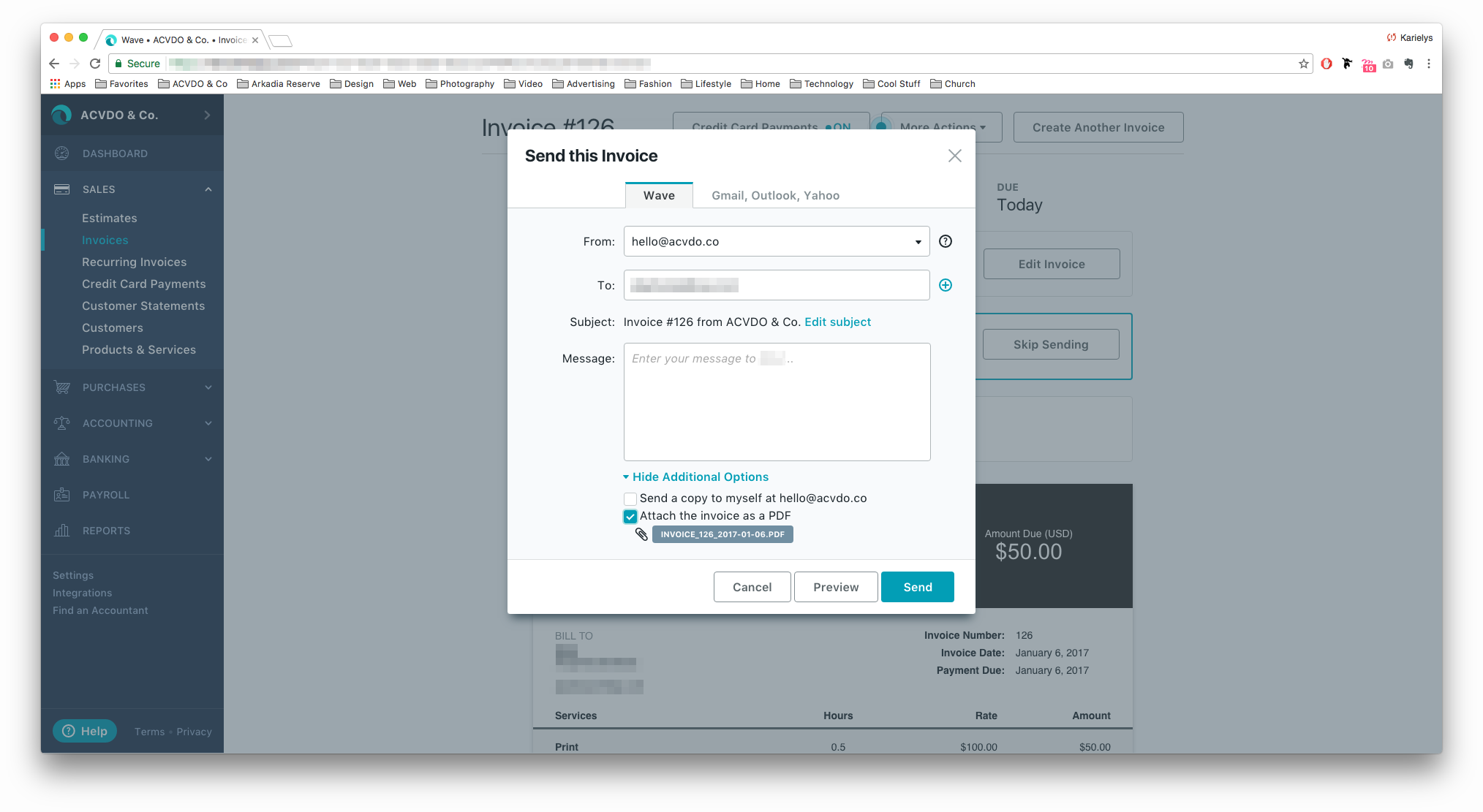 How To Invoicing For Freelancers Small Businesses - Waveapps invoice
